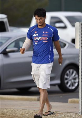 ダルビッシュはおよそ1年前、アメリカで有名な肘の手術『トミー・ジョン手術』を受けます。