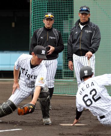 阪神・平野2軍守備走塁Cの珍練習...