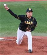 先発した阪神・西=横浜スタジアム(撮影・松永渉平)