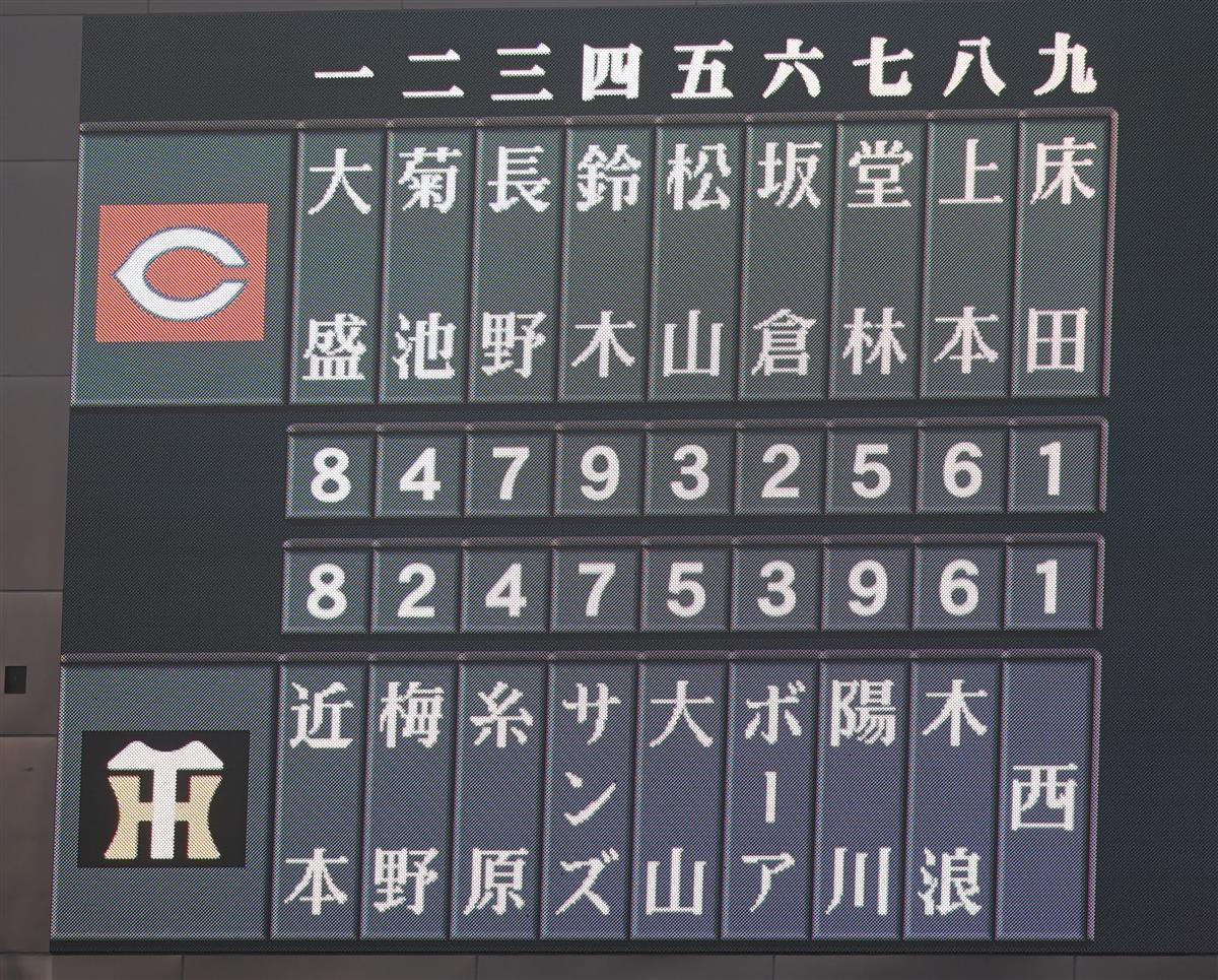 阪神が打線改造 捕手の梅野が2番 球団では矢野以来18年ぶり ...