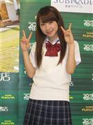 初ソロ写真集発売イベントを行ったモーニング娘。の石田亜佑美=東京・歌舞伎町