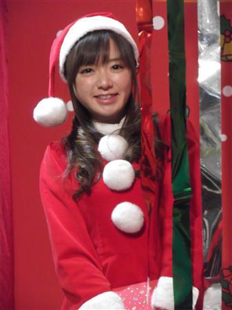 サンタ姿の紺野アナ