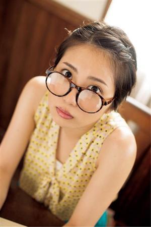 メガネをかけた志田未来さん