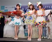 乃木坂・白石&橋本&松村、ウエディングドレス風衣装を披露!