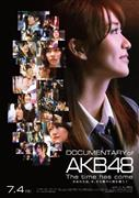 AKBグループ激動の1年半が紹介される映画のポスター「DOCUMENTARY of AKB48 The time has come 少女たちは、今、その背中に何を想う?」(C)2014「DOCUMENTARY of AKB48」製作委員会