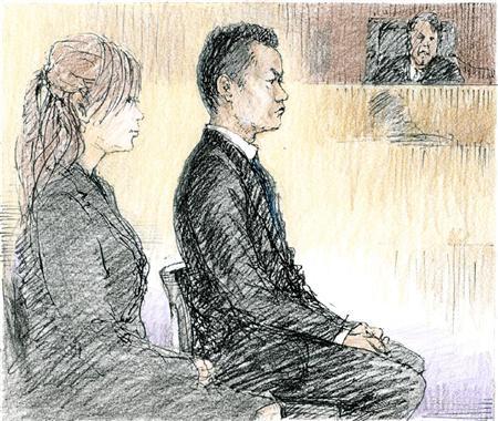 """高知東生被告""""シャブ情事""""初公判「どうやったらバ... 東生被告(右)と五十川敦子被告。高知被告"""