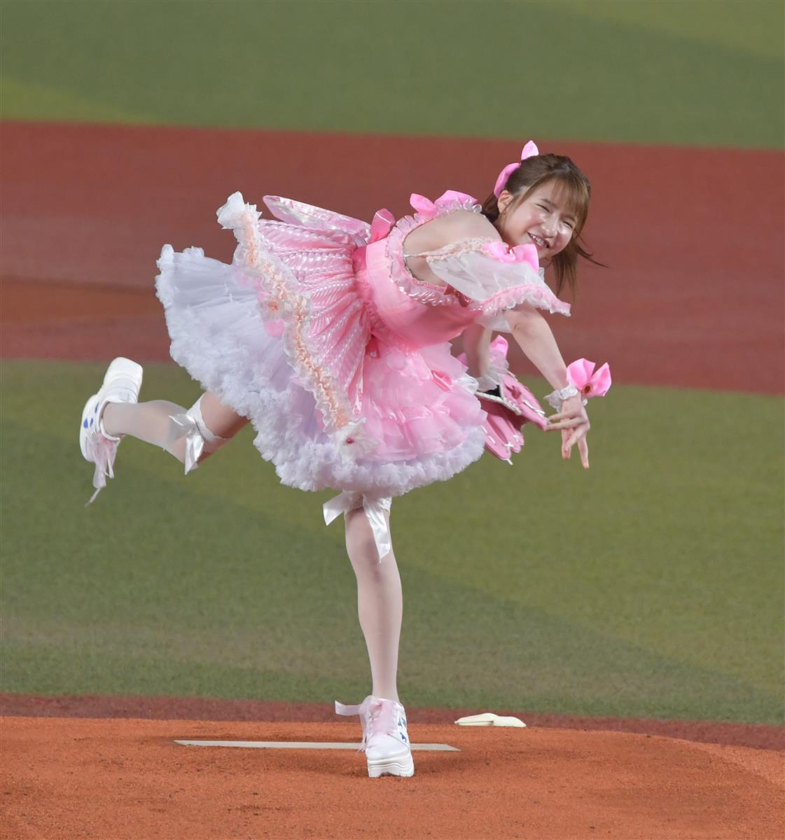 ZOZOマリンスタジアム 岩下 始球式 田村亮介 あずきに関連した画像-02