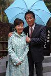 「矢立の杉年次大祭」に出席した杉良太郎、伍代夏子夫妻