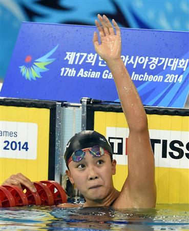 渡部「日本記録を狙って泳いだので…」優勝も反省/アジア大会(4)