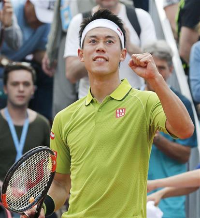 錦織、苦し勝った16強「粘り勝てて良かった」/全仏テニス(2)