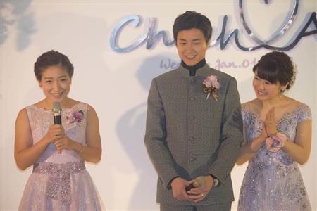 愛ちゃん披露宴 会見詳報 250万円ドレスに身を包み とても幸せです 卓球 Sanspo Com サンスポ
