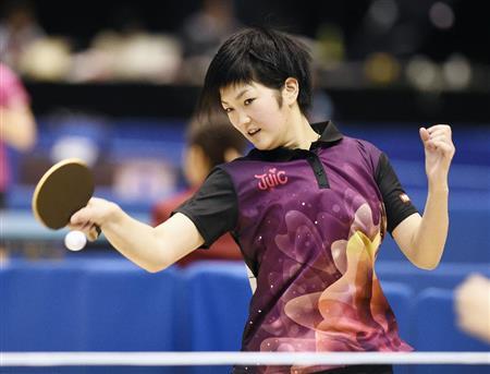 順当勝ちの小6・木原「石川佳純選手と試合してみたい」/卓球