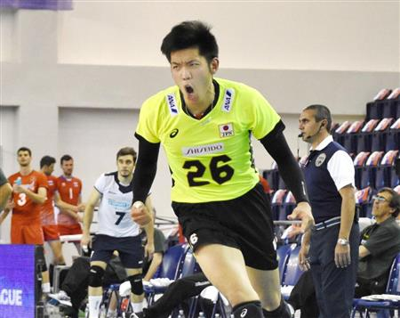 日本男子が開幕連敗…マッチポイントで大竹痛恨ミス/バレー