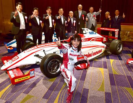 野田英樹氏の娘・Juju、目標は日本人初の女性F1レーサー 「F1 ...