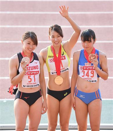 女子陸上 記念撮影 岡山インターハイ 女子七種競技 記念撮影 2016年8月1日